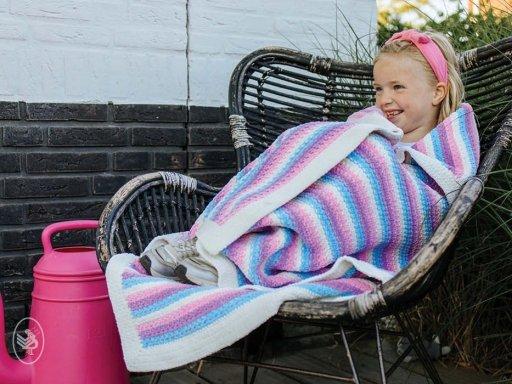Happy Unicorn Stripes Blanket